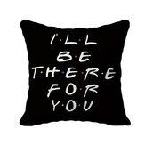 1 pc com letras pretas impressas capa de fronha para sala de estar capa de travesseiros decorativos acessórios domésticos suprimentos têxteis