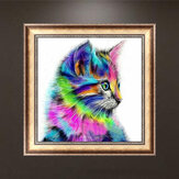 Honana WX-679 30x30cm 5D DIY Cross Stitch Colorido Cat Diamond Printing Bordado Home Decor