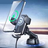 JOYROOM JR-ZS248 15W Qi Chargeur de voiture sans fil Évent/tableau de bord/support de montage sur CD Support de téléphone à charge rapide Support pour POCO X3 F3 Appareils de 4,5 à 6,7 pouces