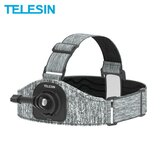 TELESIN Double Mount Skidproof Multiangle Adjustable Head Strap for GoPro DJI Osmo Action Camera Accessories