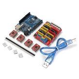 5X Geekcreit CNC Shield + UNO R3 Board + 4x A4988 Kit de pilote avec dissipateur de chaleur pour imprimante 3D