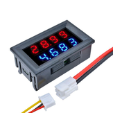 Geekcreit® تيار منتظم 100V 10A 0.28 بوصة Mini رقمي Voltmeter Ammeter 4 Bit 5 Wires Voltage Current Meter with LED Dual عرض