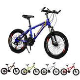 KAIMATE 20 Inch 21 velocidades, bicicleta de montaña para niños, ruedas de 40 cuchillas, frenos de disco delanteros y traseros, bicicleta para niños, bicicleta MTB