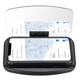 Qi Wireless Charger Fast Charging Car Hub Head-up Navigation Display Phone Holder For iPhone Samsung Huawei Xiaomi