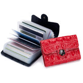 VrouwenSolidelederen26-kaartslotportemonnee