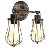Vintage Industrial Wall-mounted Metal Cage Wall Sconce Lampshade Light Shade Without Bulb