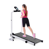 LED Display Portable 90° Folding Treadmill With Wheels Home Multifunction Fitness Sport Running Machine