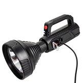 XANES® A08 10W Projecteur à focale fixe à forte lumière LED avec batterie Li-ion 18650 Rechargeable par USB & Lampe de poche à affichage de puissance Lampe torche étanche et anti-chute