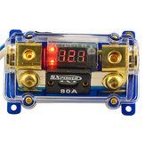 F208 Car Voltage Display 1 in 1 Out 80A Digital ANL Fuse Holder