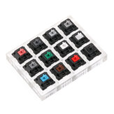 12 teclas Cherry Switch Teclado Switch Tester con base de acrílico y teclas claras