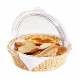 Round Home Kitchen Aufbewahrungskorb Brot Obst Keks Display Behälterhalter Dome Deckel für die Aufbewahrung von Lebensmitteln
