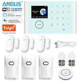 ANGUS CS118 Tuya WIFI Home Security Alarm System App Control Compatible with Alexa Wireless Burglar Alarm