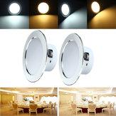 12w LED pannello di illuminazione ad incasso a soffitto verso il basso lampadina apparecchio CA 85-265V