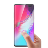 Bakeey 3D Curved Edge Ultrasonic Fingerprint Unlock szkło hartowane Screen Protector do Samsung Galaxy S10 5G 2019