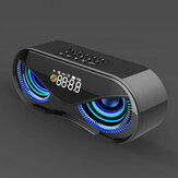 Desktop Colorful Lights Dual Speakers Digital Botões Song bluetooth Speaker