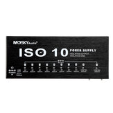 MOSKY ISO-10 Portable Guitar Effect Power Supply 10 Isolated DC Outputs & One 5V USB Output for 9V 12V 18V Guitar Effects