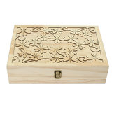 70 machines à sous en bois Carved Case Container Essential Oils Box Storage
