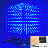 3D ضوء Cube Kit 8x8x8 Blue LED MP3 موسيقى Spectrum DIY Electronic Kit