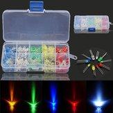3 x 375 Stück pro Box 3MM 5MM LED Leuchtdiodenperlen Widerstandslichter-Kits Lampenlampe
