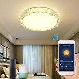 48W Wifi Smart Ceiling Light Intelligent Crystal Ceiling Lamp WW+CW Dimmable AC85-265V APP Control Works With Alexa Google Home IFTTT