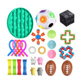 そわそわおもちゃ感覚セットアンチストレスリリーフそわそわバブルおもちゃ減圧アーティファクト子供の大人のための手のおもちゃ