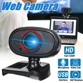 HD USB Webcam with Built-in Microphone Video Web Class Camera PC Laptop Desktop