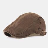 新しく和風のユニセックス無地コットンカジュアルアウトドアサンシェードフラット帽子洗えるフォワードハット