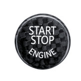 Start Stop Engine Button Couvercle Noir Carbone Pour BMW F / G Classis F01 F02 F10 G37