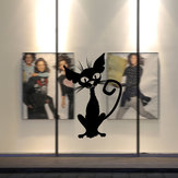 Halloween Magic Cat Sticker PVC Removable Wall Window Sticker Terror Halloween Decorations
