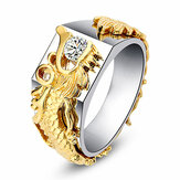 Luxury Gold Dragon Men Ring