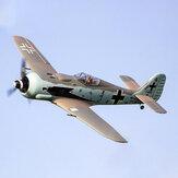 Dynam Focke Wulf FW-190 1270mm Apertura alare EPO Warbird RC Airplane PNP con retrattili
