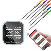 Bluetooth Kablosuz BARBEKÜ Termometre Akıllı Pişirme Aletler 6 Problu Alarm Zamanlayıcı Telefon için Ücretsiz APP