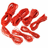 DANIU 5 Meter Rood Silicon Wire Cable 10/12/14/16/18/20 / 22AWG Flexibele Kabel