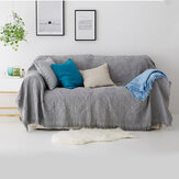 Sofa Blanket Solid Color Lattice Knitted Blankets with Tassel Bed Sofa Cover Throw Blanket Dust Cover Home Office Furniture Decorations