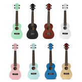 23 Inch Ukulele Concert Guitar Rosewood Colorful Hawaii Acoustic With Bag