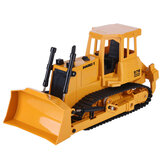 Double E E579 1/20 2.4G 9CH RC Loader Tractor Truck Bulldozer Light Sound Engineering Vehicles Models Toys for Kids Children