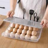 18 rejillas de almacenamiento de huevos de cocina soporte de huevos congelador apilable contenedor de almacenamiento de huevos portátil y a prueba de polvo