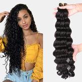 9 Farben Crochet Box Braids Haarbündel Chemiefaser Little Braid Pferdeschwanz Haarring