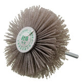 6mm Shank 80 Grit Abrasive Grinding Wheel Brush Wood Working Polishing Wheel