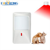 EARYKONG Wired PIR Infrared Motion Detector PET Immune Infrared Detector for Home Burglar GSM Alarm System