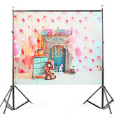 5x3ft Pink Balloon Fireplace Cabinet Photography Backdrop Studio Prop Background