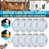 10PCS 12V LED Interno lampada Luce da incasso per armadio con controllo remoto per VW T4 T5