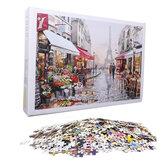 1000 pezzi puzzle giocattolo assemblaggio fai da te puzzle di carta bellissimo edificio paesaggio giocattolo educativo