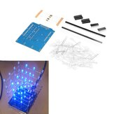 4X4X4 Azul luz LED Cube Kit 3D LED DIY Kit Para Arduino Smart Electronics Led Cube Kit