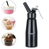500 ml de Crema de mantequilla negra Whipper Coffee Postre Cake Batter Dispenser Maker con Cepillo Boquilla