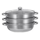 調理鍋ステンレス調理器具蒸し煮スープ鍋キッチンセット28CM