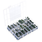 700PCS 100V Mylar Film Capacitor geassorteerde Kit 2A221 ~ 2A474J 220pF ~ 470nF 24value polyester filmcondensator