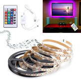 0.5M / 1M / 1.5M / 2M / 3M / 4M Música ativada a prova de som RGB 5050 LED Strip Light Kit DC5V