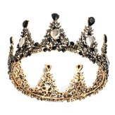 Elegant Bridal Crown Wedding Full Rhinestone Round Tiara Headpiece Hair Jewelry