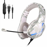 Bakeey J10 Gaming Wired Headphone Earphones Over-ear Headset Deep Bass Stereo Casque with Microphone for PS4 PS5 for xbox